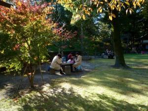 前日までと違って秋晴れの小春日和でスケッチは最高の一日