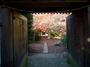 小田原・松永記念館のすぐ側の秋葉山量覚院