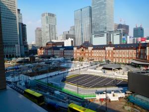 東京駅前丸の内広場 3月28日撮影